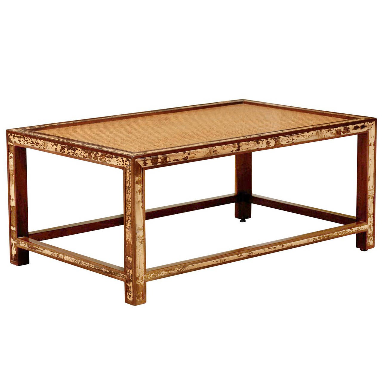 Beautiful vintage bamboo and raffia coffee table at 1stdibs for Raffia coffee table
