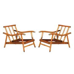 Pair of Campaign Loungers by John Wisner