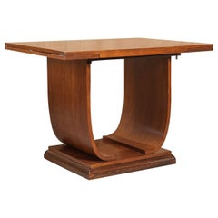 French Art Deco Flip-Top Console Table