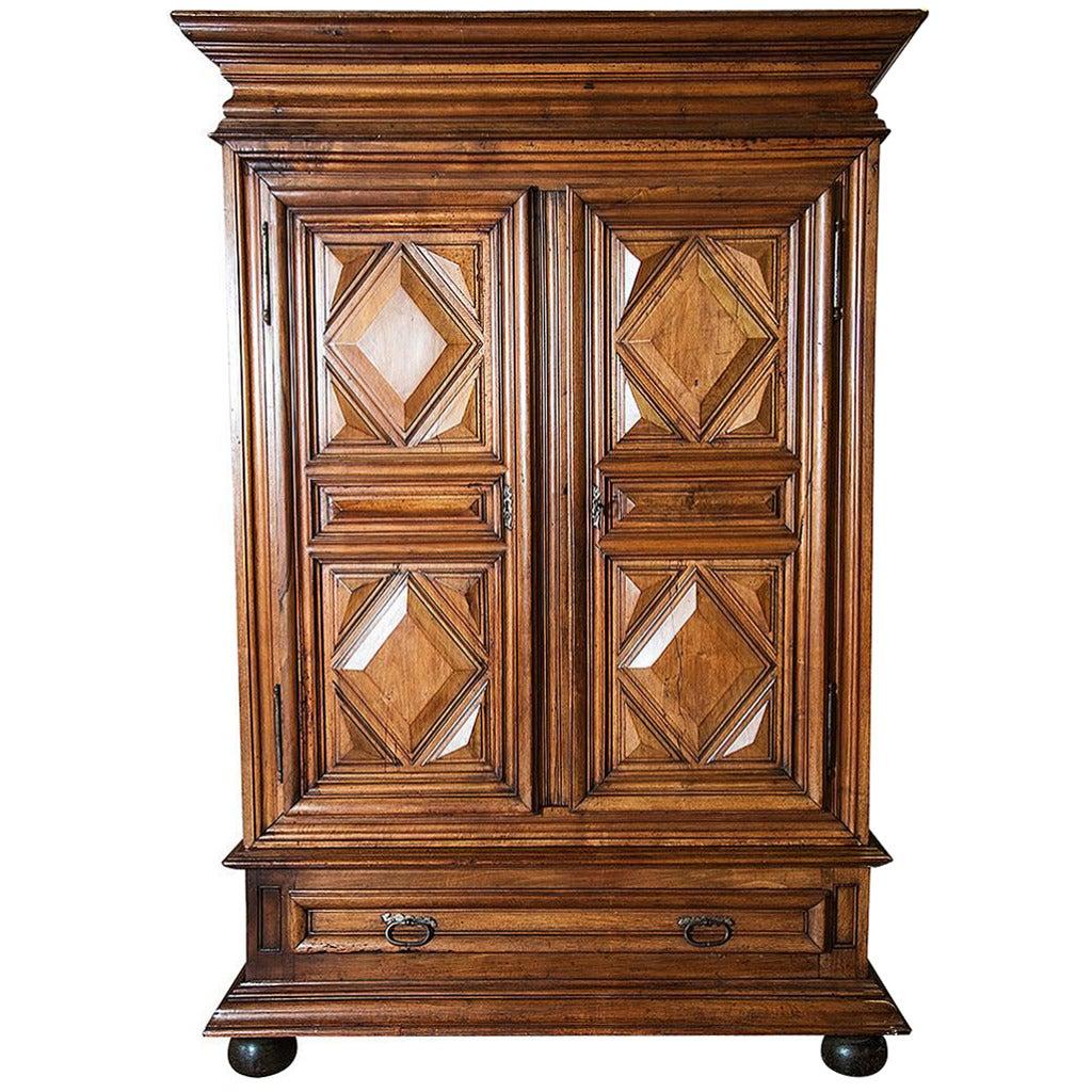 18th century french louis xiii style chateau armoire at. Black Bedroom Furniture Sets. Home Design Ideas