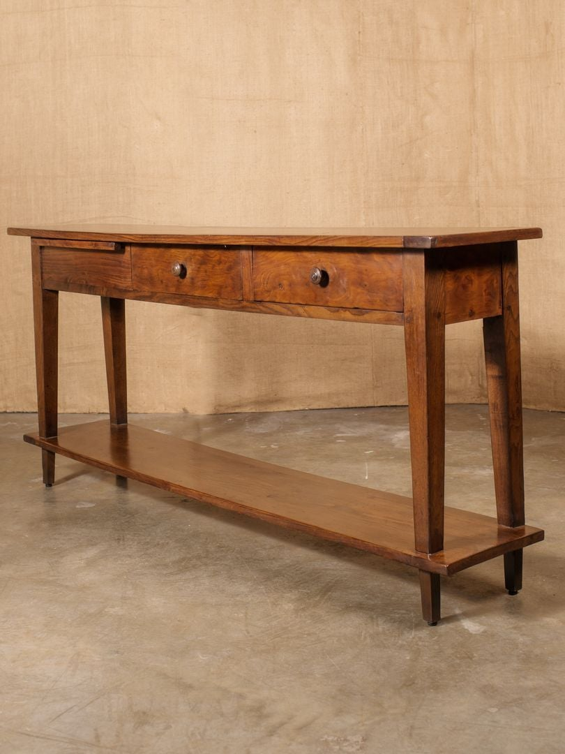 Rustic french country sofa table at 1stdibs for Rustic french country