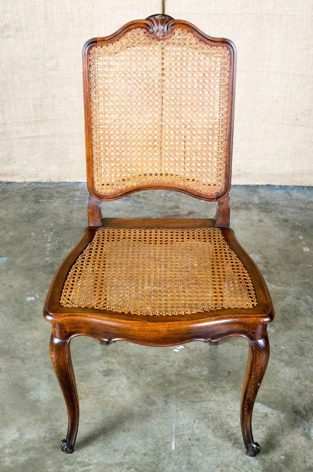 set of 6 french louis xv style cane dining chairs at 1stdibs