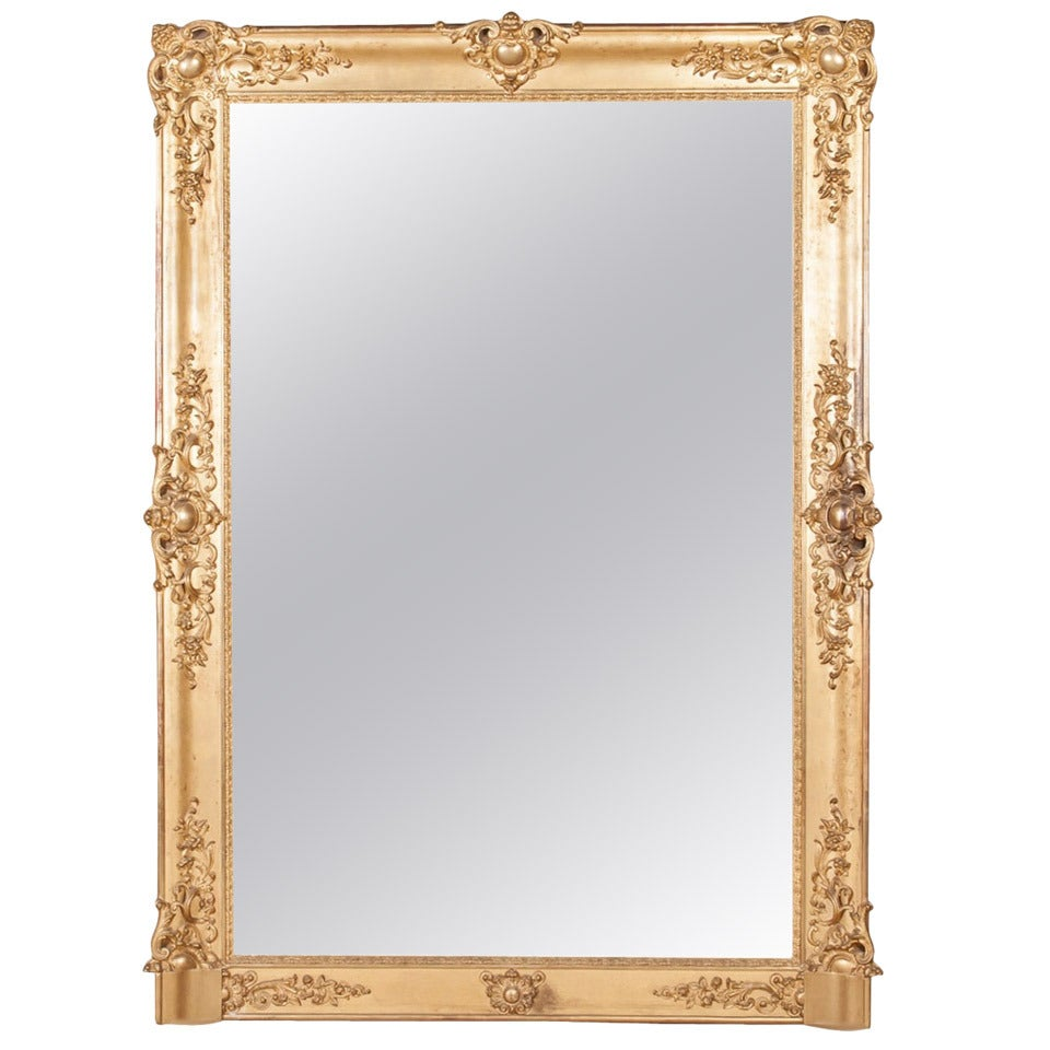 french baroque grand scale gold leaf mirror 72 h x 52 w