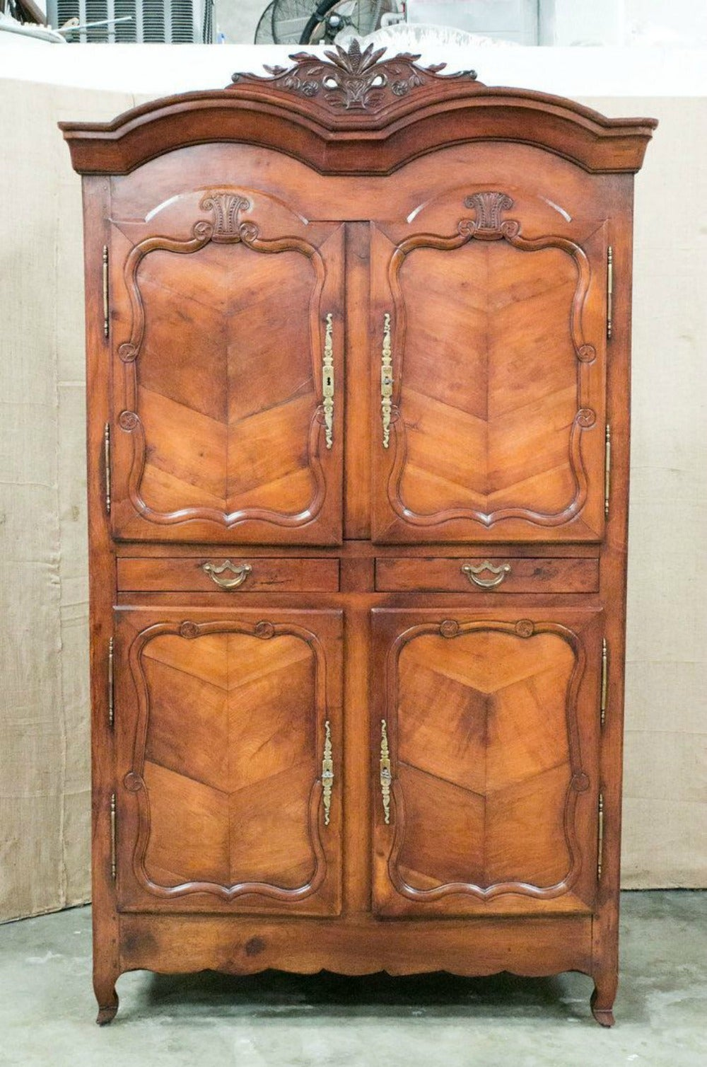 louis xv period rennaise cherrywood armoire at 1stdibs. Black Bedroom Furniture Sets. Home Design Ideas