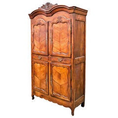 Louis XV Period Rennaise Cherrywood Armoire