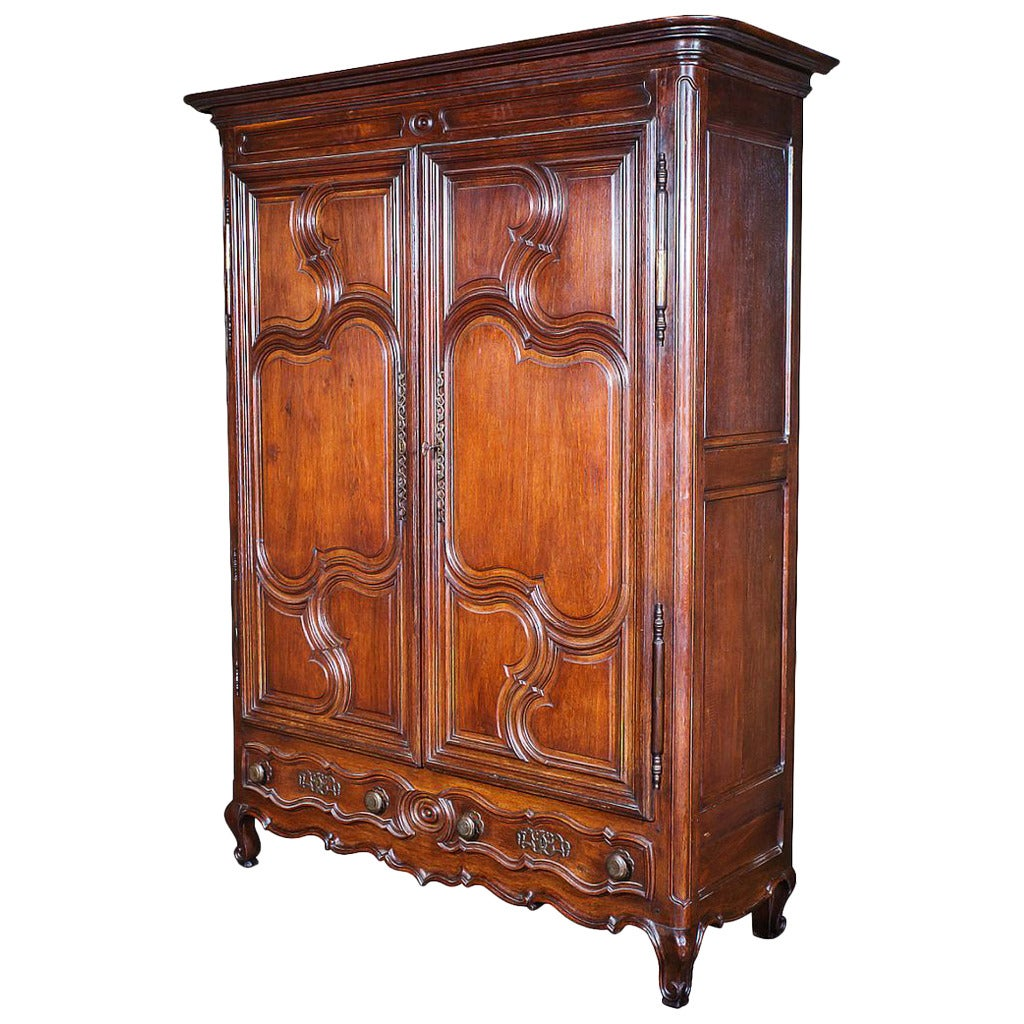 louis xv period armoire with secret drawer at 1stdibs. Black Bedroom Furniture Sets. Home Design Ideas