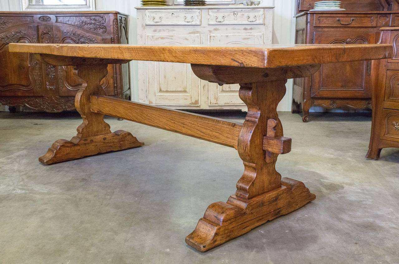 Antique French Trestle Table 3