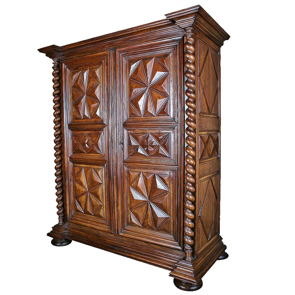 18th century louis xiii style walnut armoire at 1stdibs. Black Bedroom Furniture Sets. Home Design Ideas