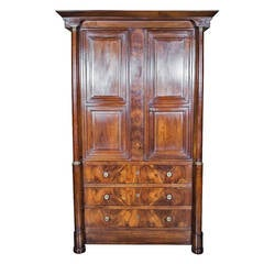 Fine French Empire Period Linen Press