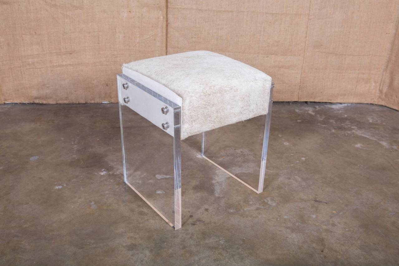 Image of: Coco Lucite Vanity Stool At 1stdibs