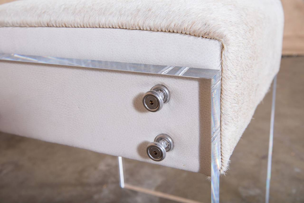 Coco lucite vanity stool image 6