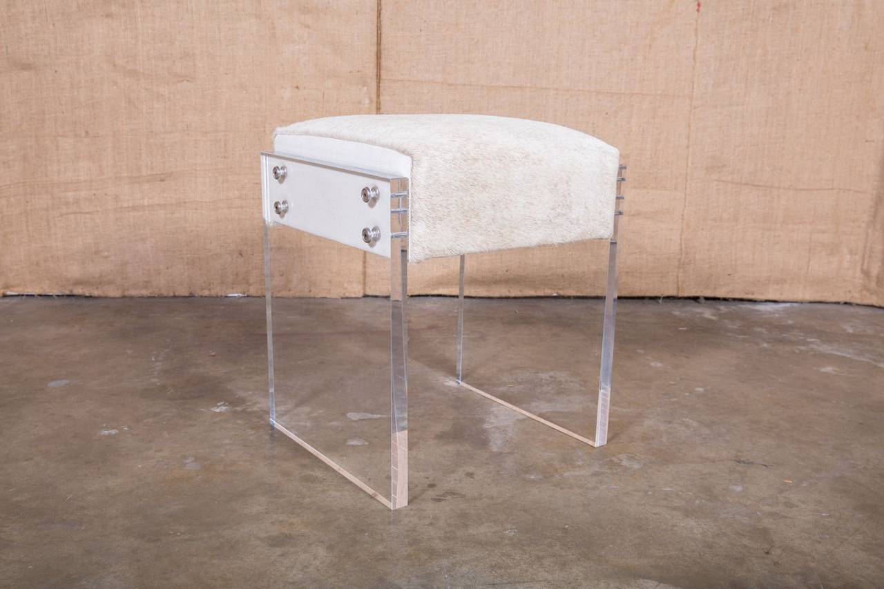 Preferred Coco Lucite Vanity Stool For Sale at 1stdibs ND56