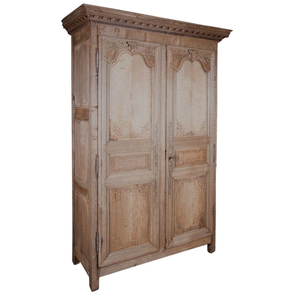 late 18th century louis xiv style washed oak armoire at. Black Bedroom Furniture Sets. Home Design Ideas
