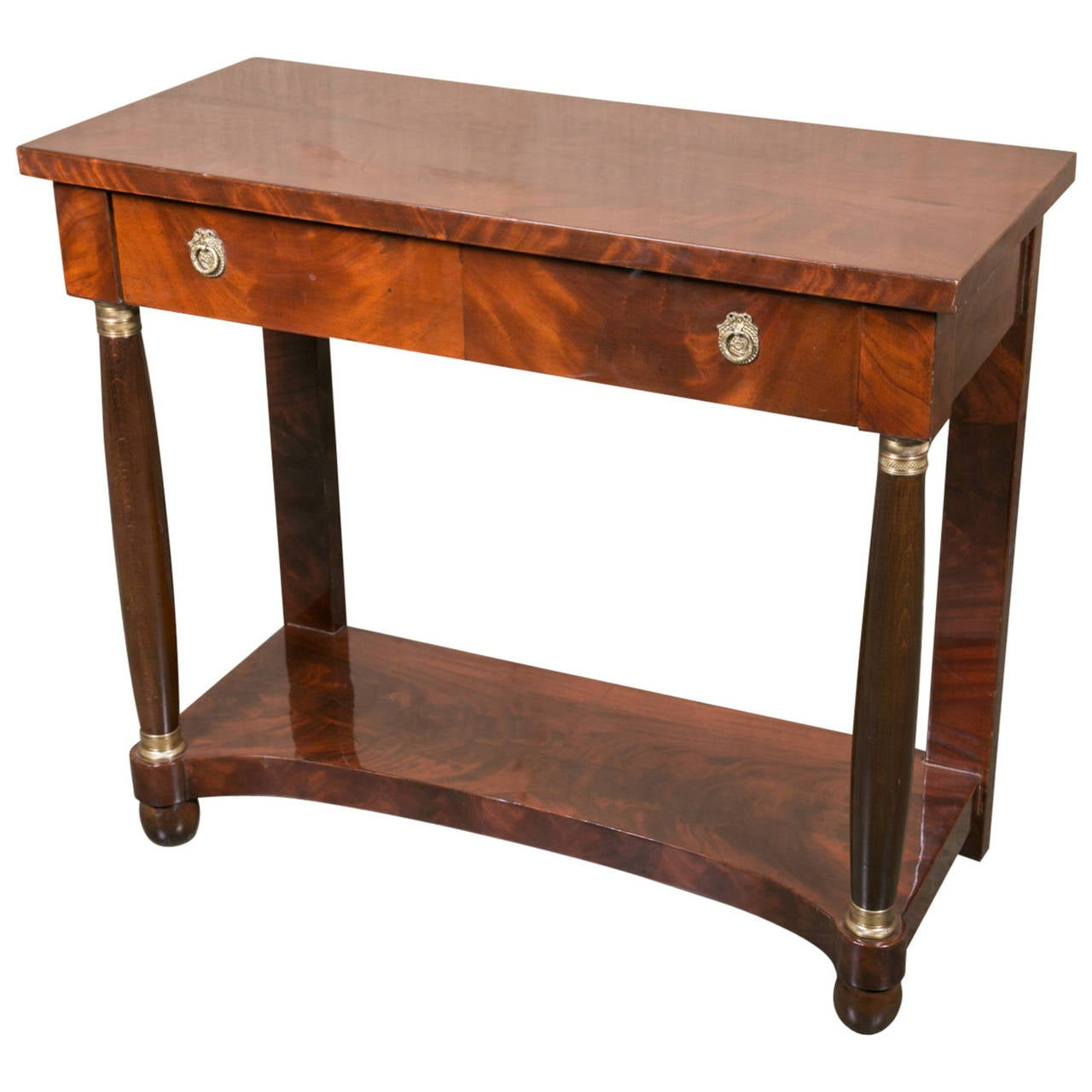 French empire mahogany console table for sale at 1stdibs for Sofa table on sale