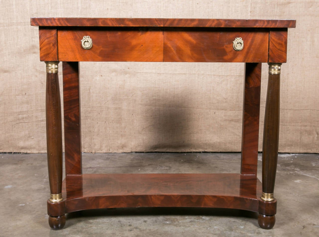 french empire mahogany console table for sale at 1stdibs