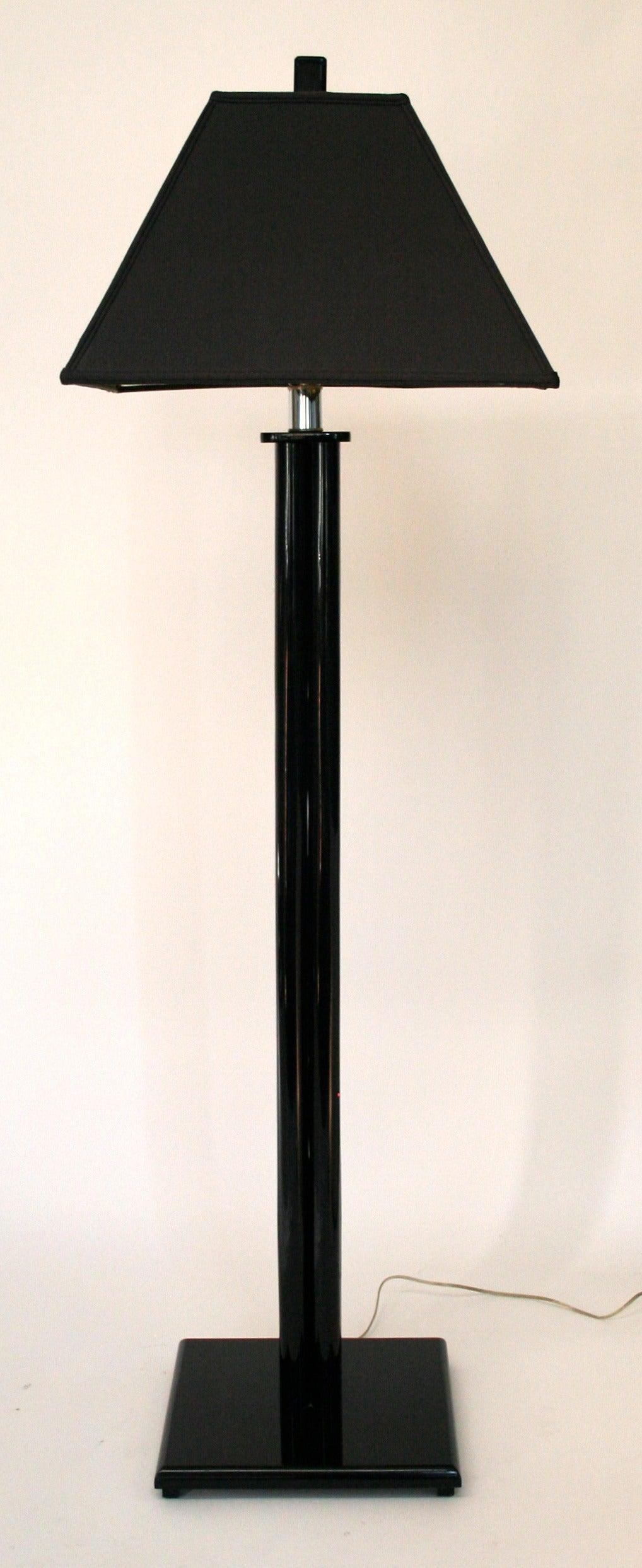 Black Lucite Floor Lamp At 1stdibs