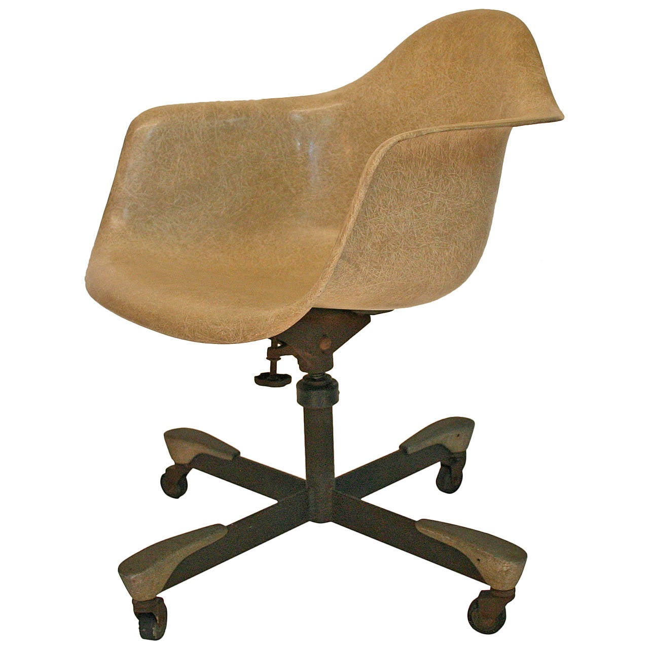 Eames Fiberglass Rolling Chair for Herman Miller at 1stdibs