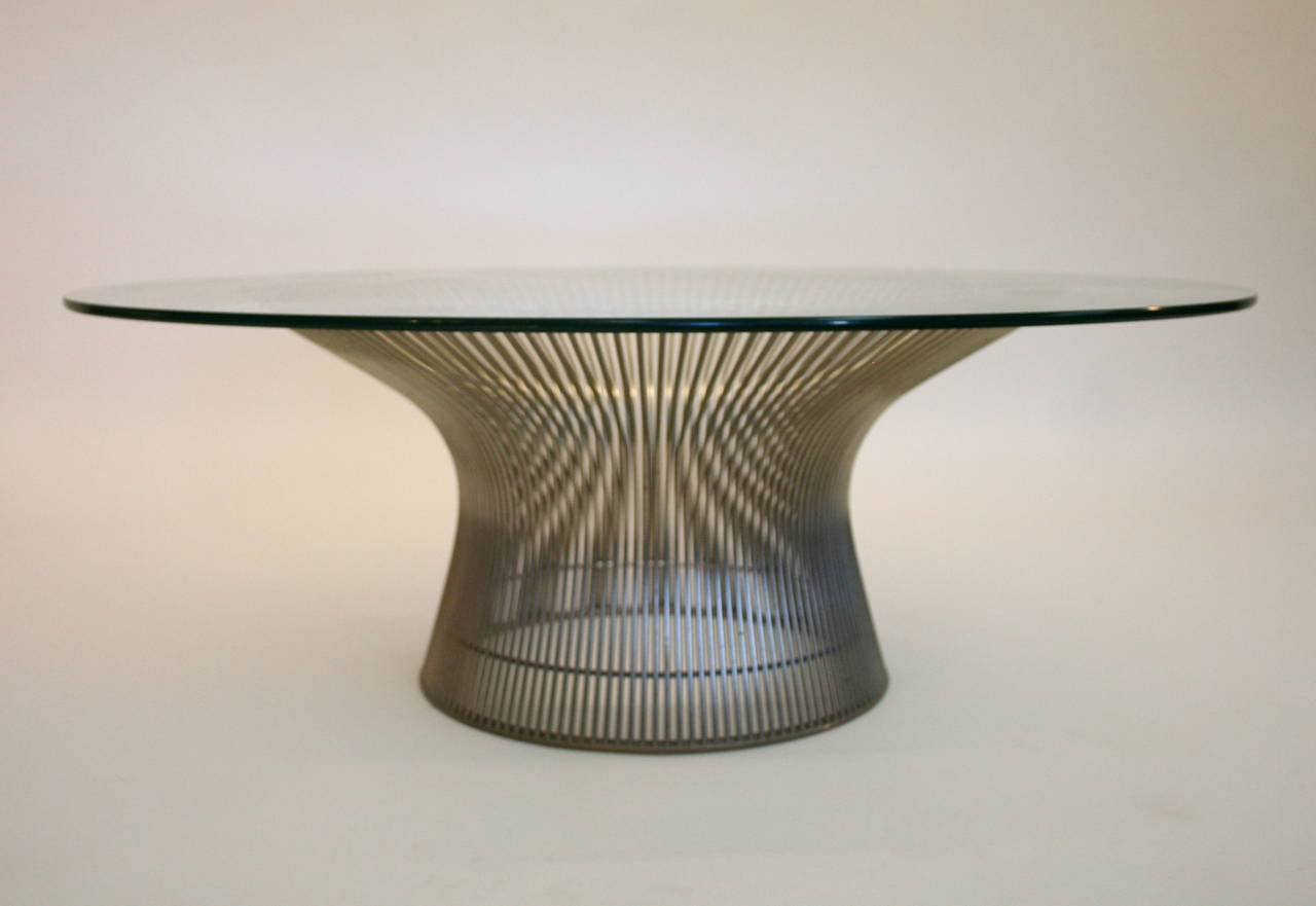 warren platner coffee table for knoll international at 1stdibs
