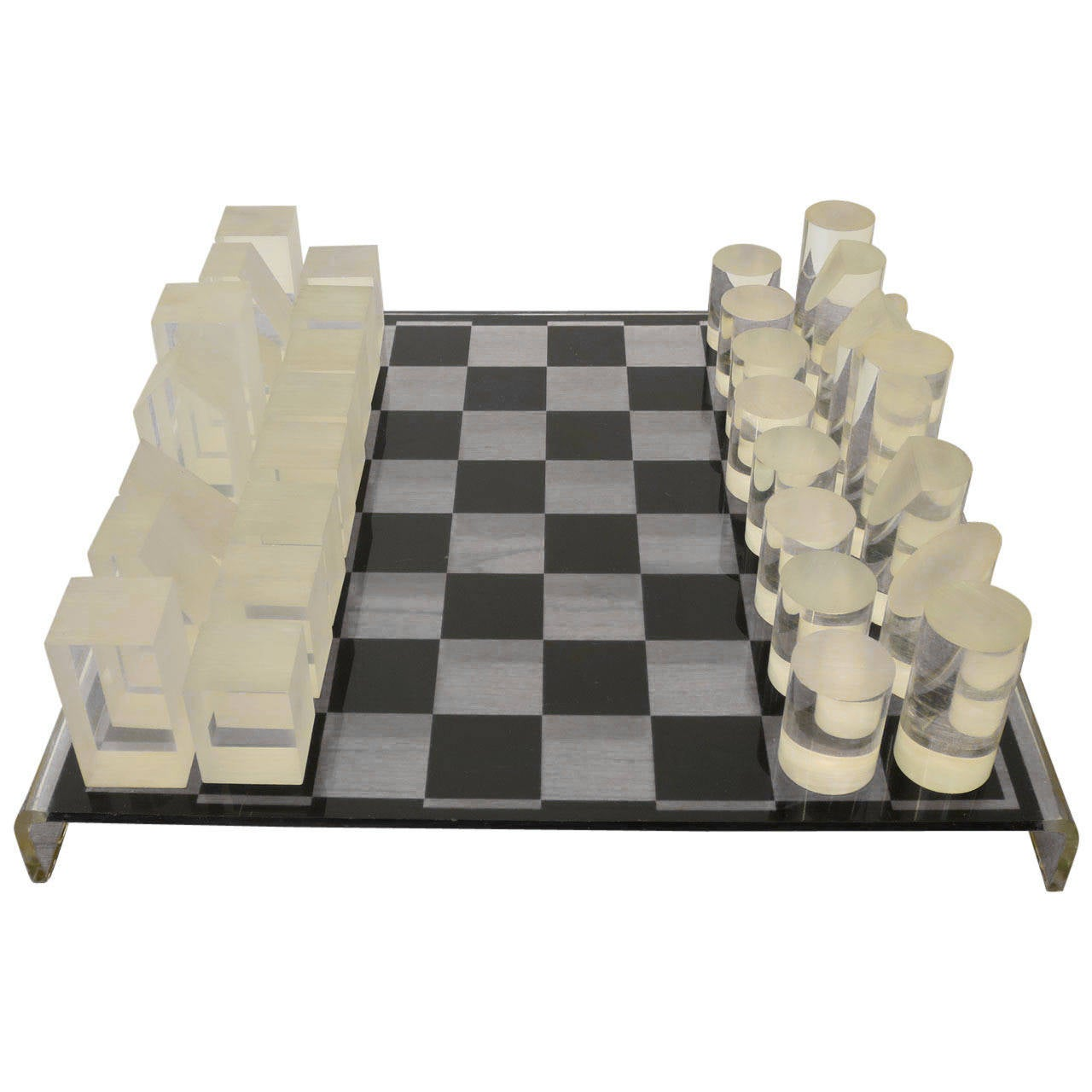 1970s Modern Home Architecture: 1970s Modern Lucite Chess Set At 1stdibs