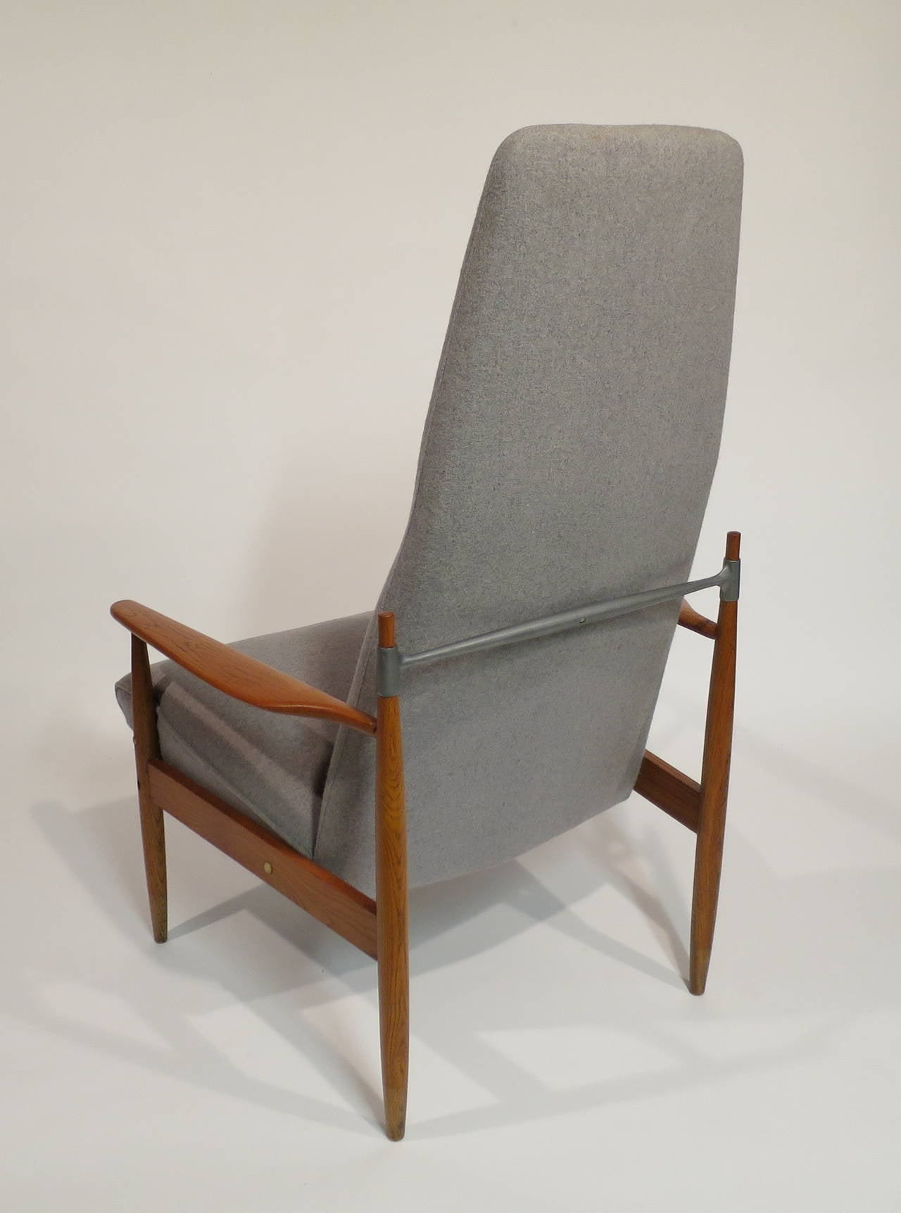 mid century modern high back lounge chair at 1stdibs