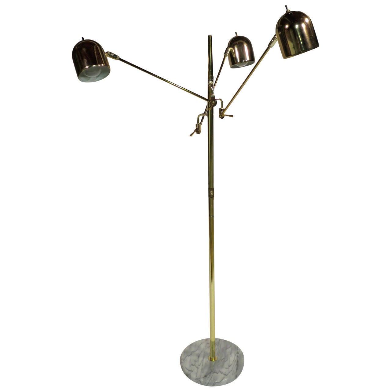 Mid Century Modern Adjustable Brass Floor Lamp At 1stdibs