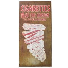 Vintage Metal Cigarette Advertising Sign