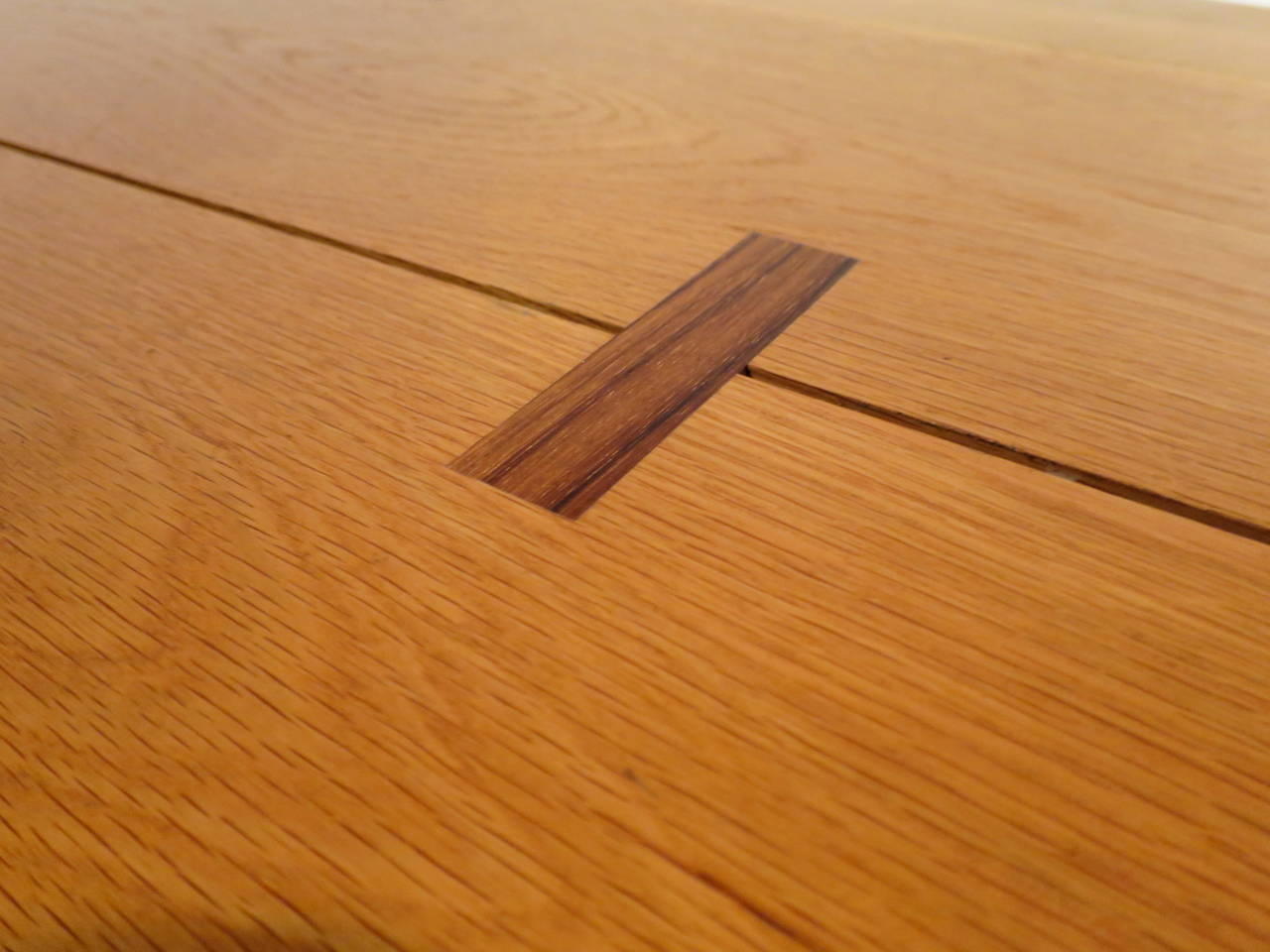 Custom Rosewood And Oak Desk At 1stdibs