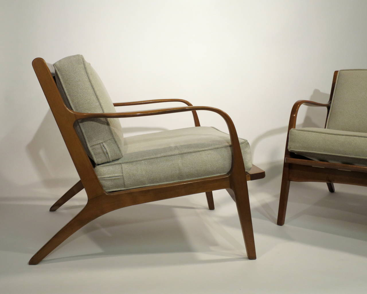 Pair of Danish Modern Lounge Chairs at 1stdibs