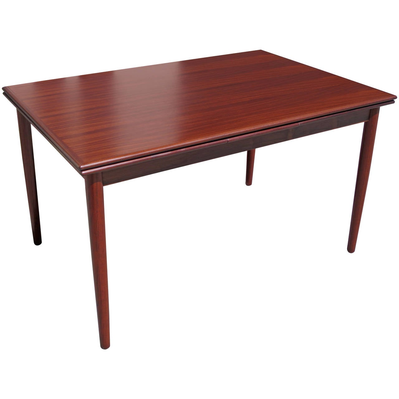 Danish modern rosewood draw leaf dining table at 1stdibs for Danish modern dining room table