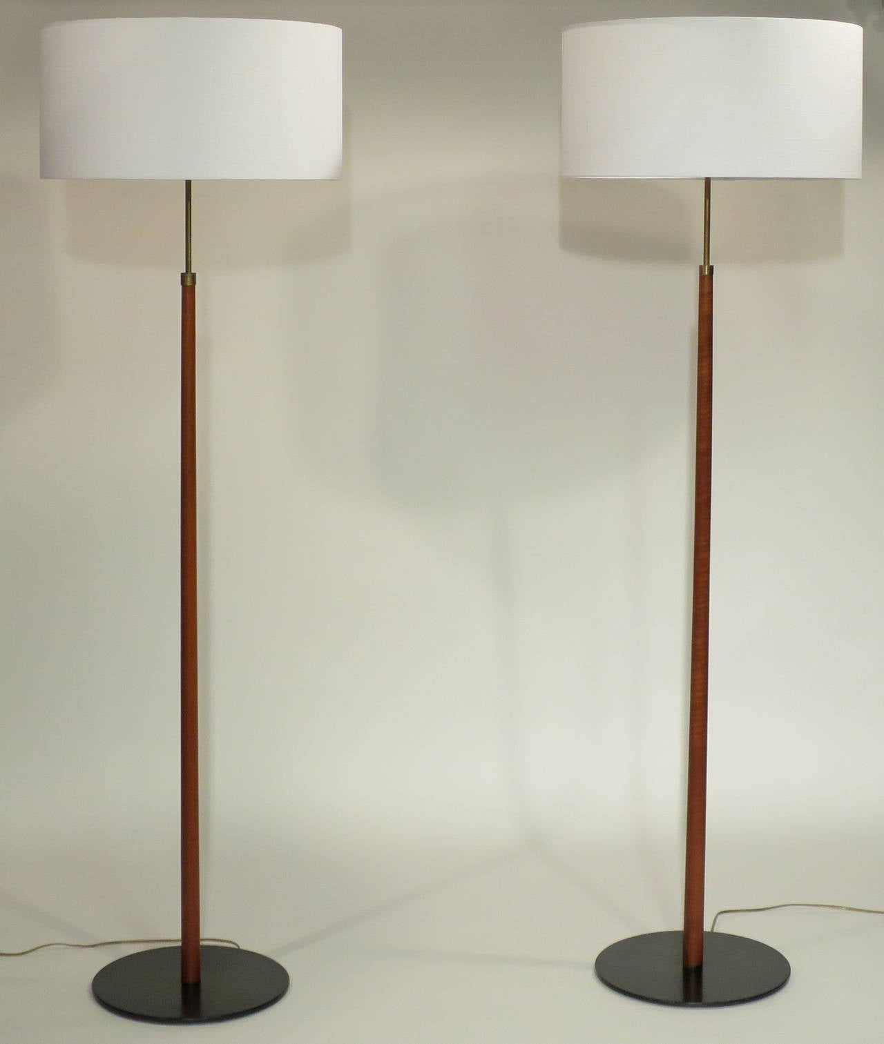 pair of midcentury adjustable height floor lamps at 1stdibs. Black Bedroom Furniture Sets. Home Design Ideas