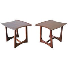 Pair of Adrian Pearsall Stingray Tables