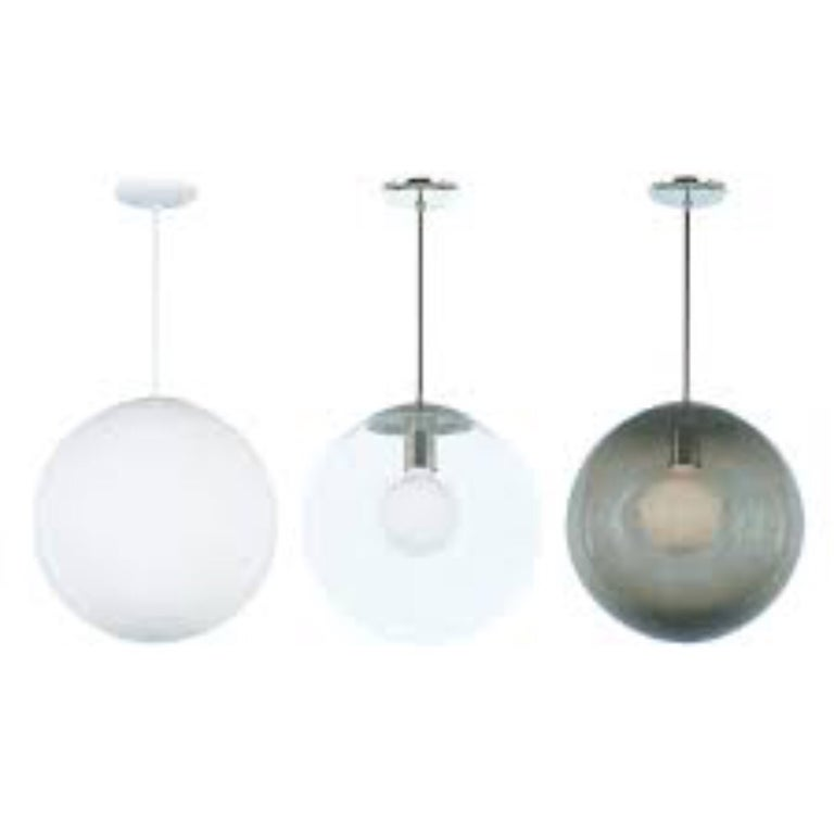 Vintage Style Glass Globe Hanging Pendant Light Fixture For Sale 3