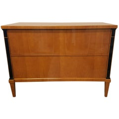 Biedermeier Two-Drawer Chest in Cherry High Polish Lacquer