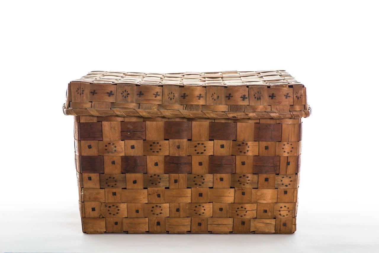 Mid 19th Century Native American Splint Basket 3