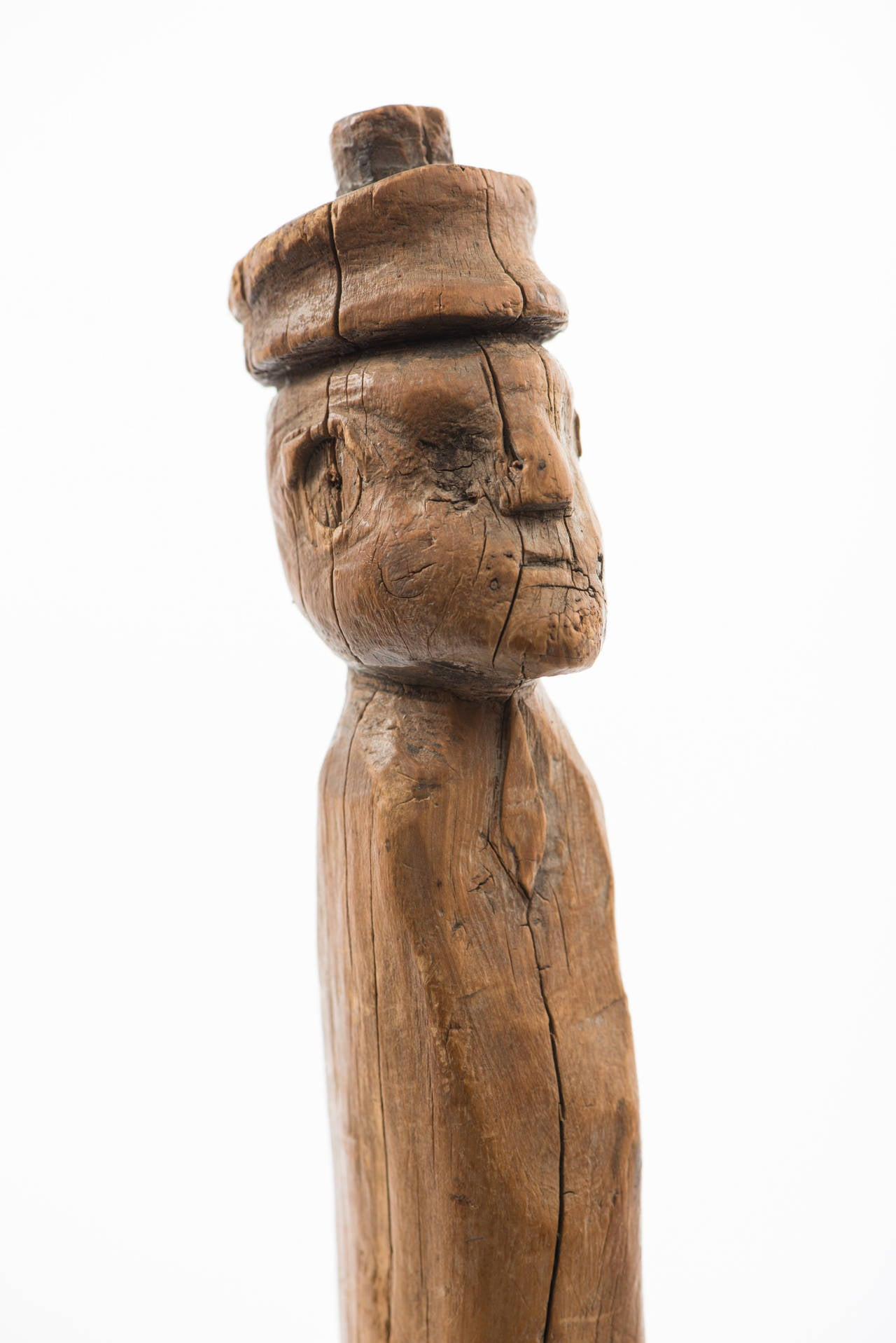 Carved Folk Figure Cane with Branch Legs In Excellent Condition For Sale In Cortlandt Manor, NY