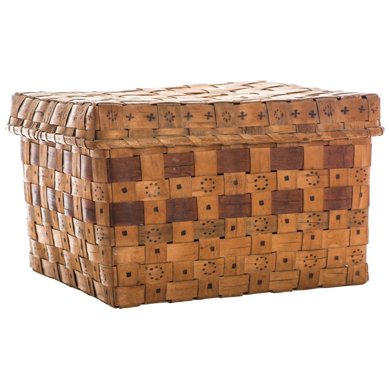 Mid-19th Century Native American Splint Basket