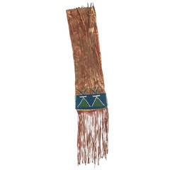 Mid-19th Century Northern Plains Native American Beaded Pipebag