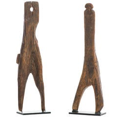 Early Figural Primitive Boot Jacks