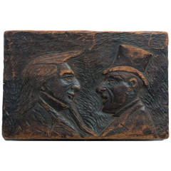 19th Century Storage Box with Caricatures of Lincoln/Douglas Debate