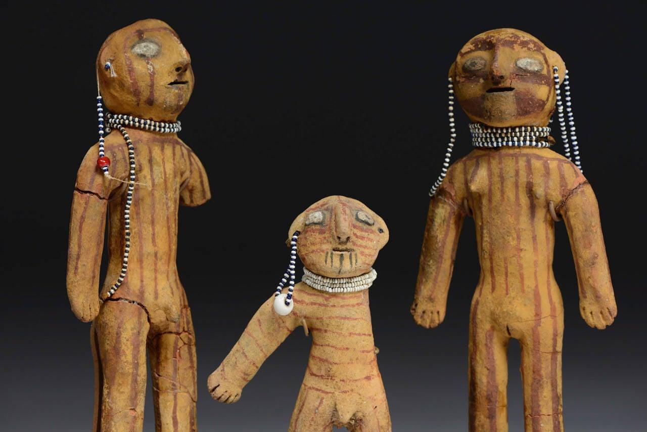 Antique Native American Mojave Dolls, 19th Century 2