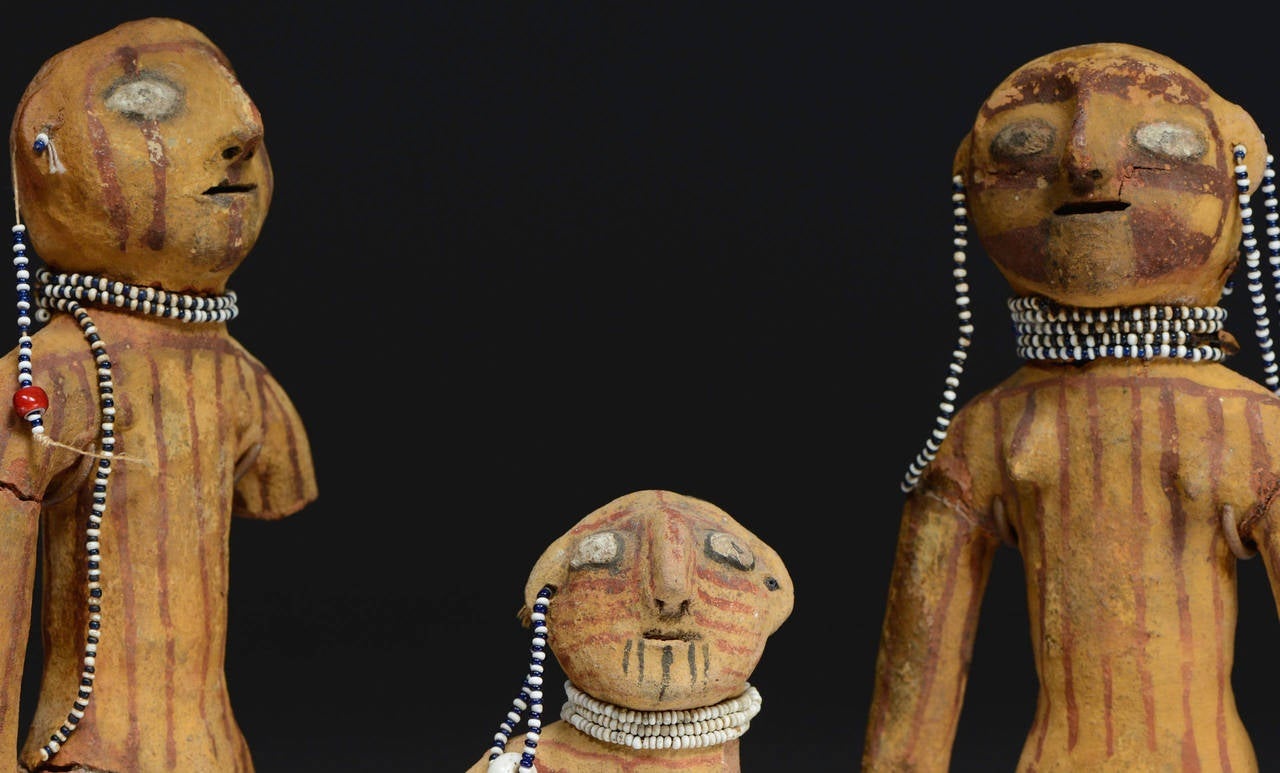 Antique Native American Mojave Dolls 19th Century For
