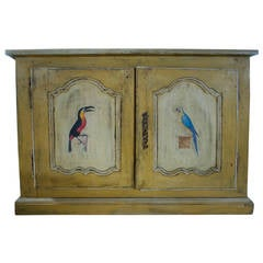 Hand-Painted 19th Century French Oak Buffet