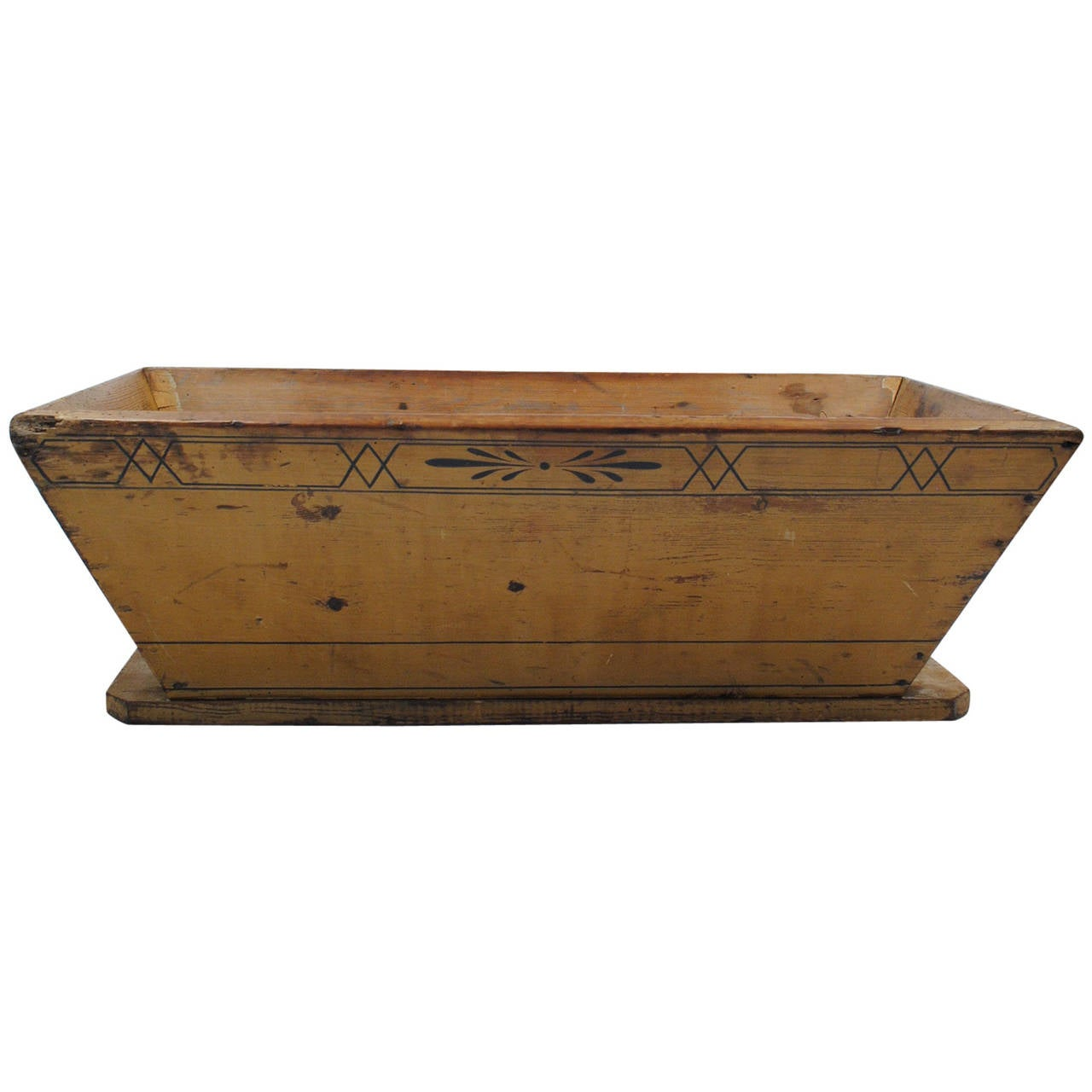 antique painted wood planter at 1stdibs