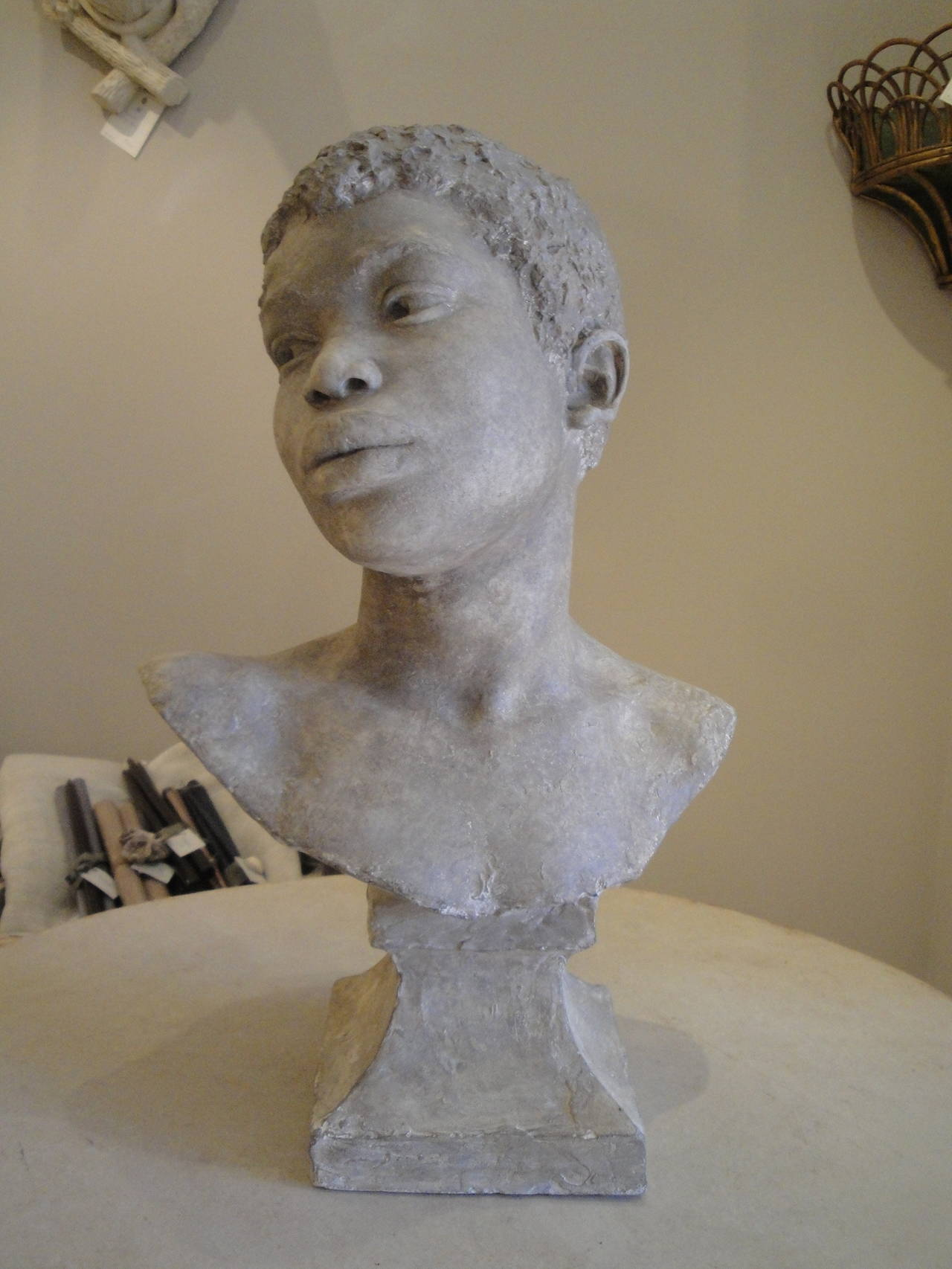 Stags Head Home Decor Bust Of A Young Boy At 1stdibs