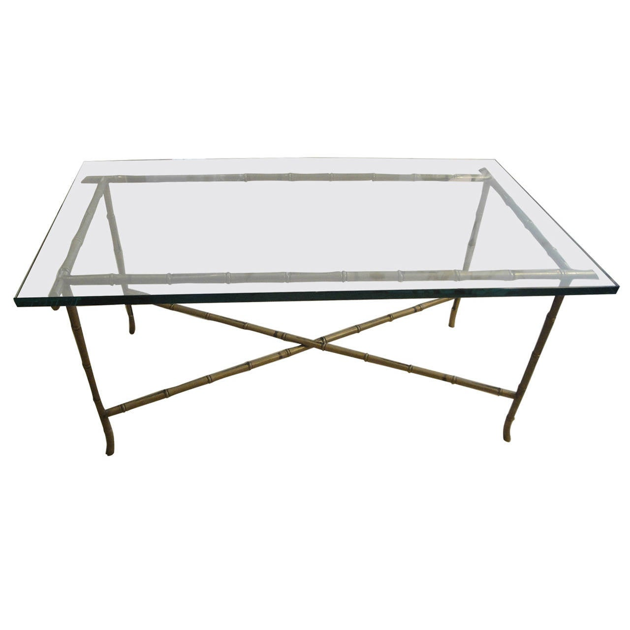 20th Century Maison Jansen Coffee Table In Bronze At 1stdibs