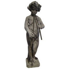 19th Century French Garden Statue of Pan