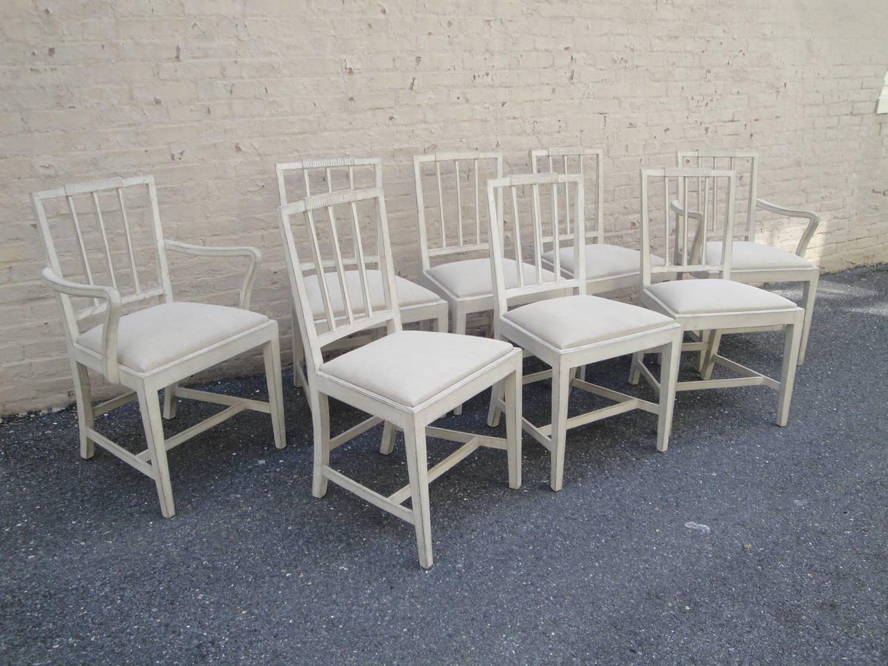 Set Of 14 Swedish Dining Chairs At 1stdibs