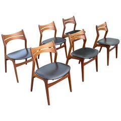 12 Erick Buch Model 310 Teak Chairs by CHR Christensens Mobelfabrik, Denmark