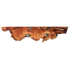 Maple Wall-Mounted Console or Shelf with Crystals and Gemstones