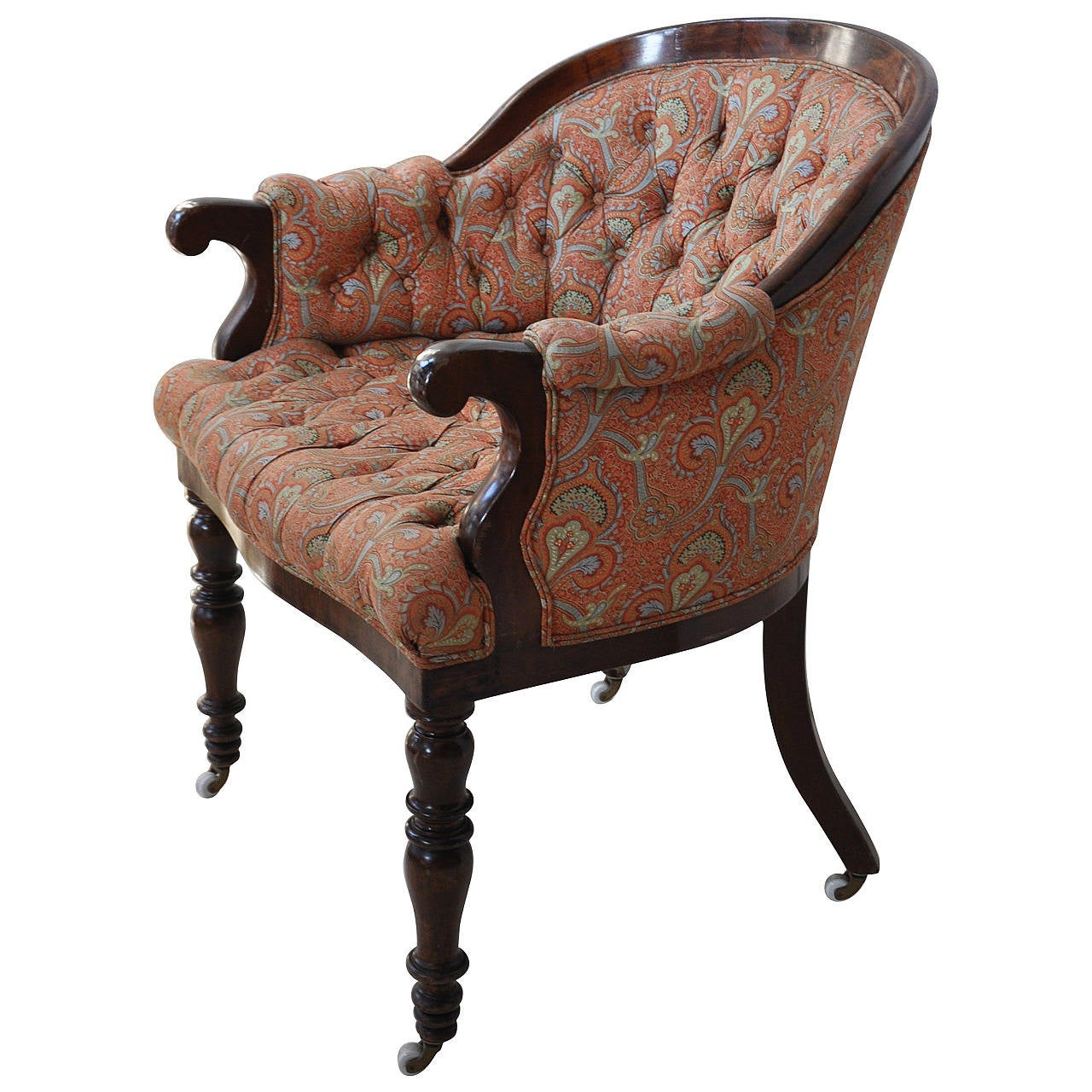 19th century tufted desk chair for sale at 1stdibs
